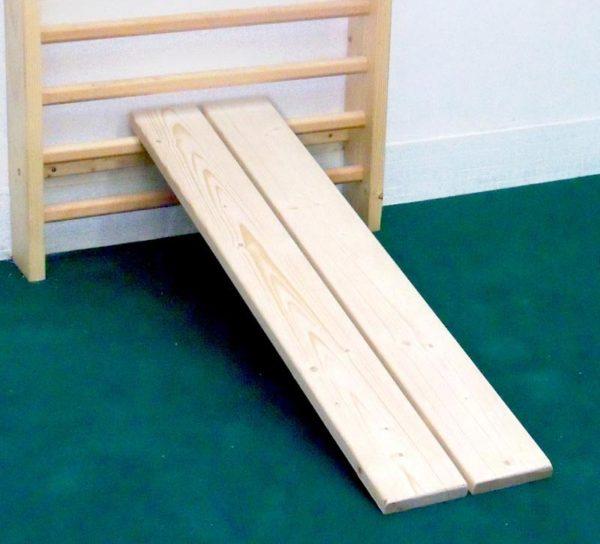 Planches d'exercices en bois