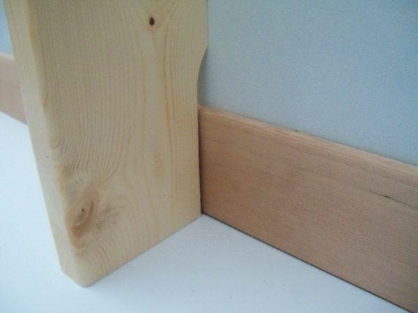 échancrure pour passage de plinthe espalier bois